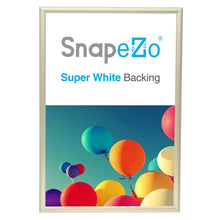"Load image into Gallery viewer, 13x19 Cream SnapeZo® Return Snap Frame - 1"" Profile"