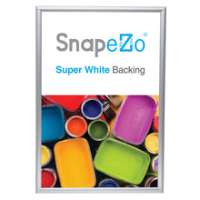 "Load image into Gallery viewer, 10x18 Silver SnapeZo® Snap Frame - 1"" Profile"