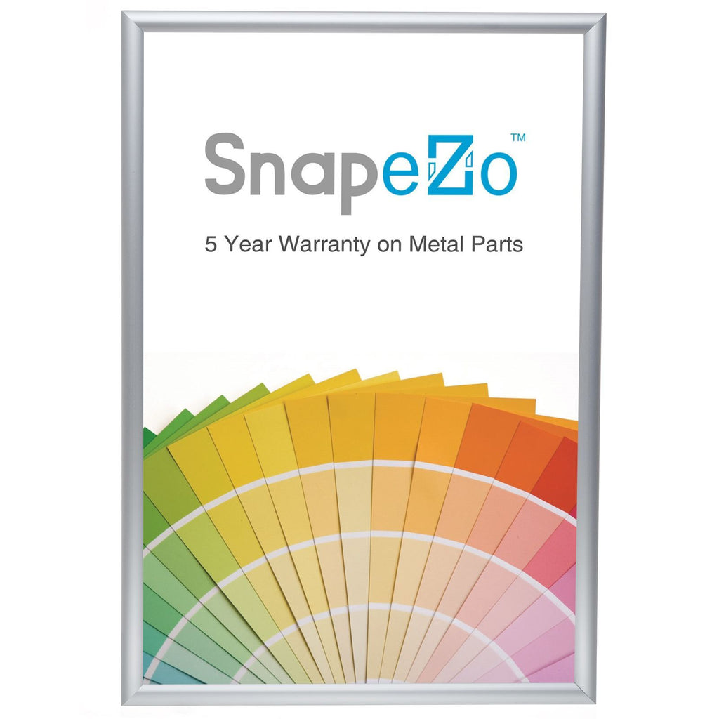 Brushed silver snap frame poster size 18X24 - 1 inch profile - Snap Frames Direct