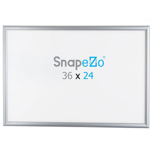 "24x36 Brushed Silver SnapeZo® Snap Frame - 1"" Profile"