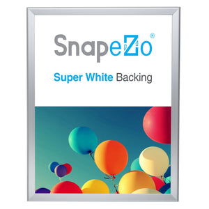 Silver double-sided snap frame poster size 18X24 - 1.25 inch profile - Snap Frames Direct