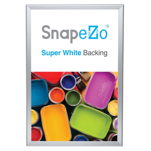Silver double-sided snap frame poster size 20X30 - 1.25 inch profile - Snap Frames Direct