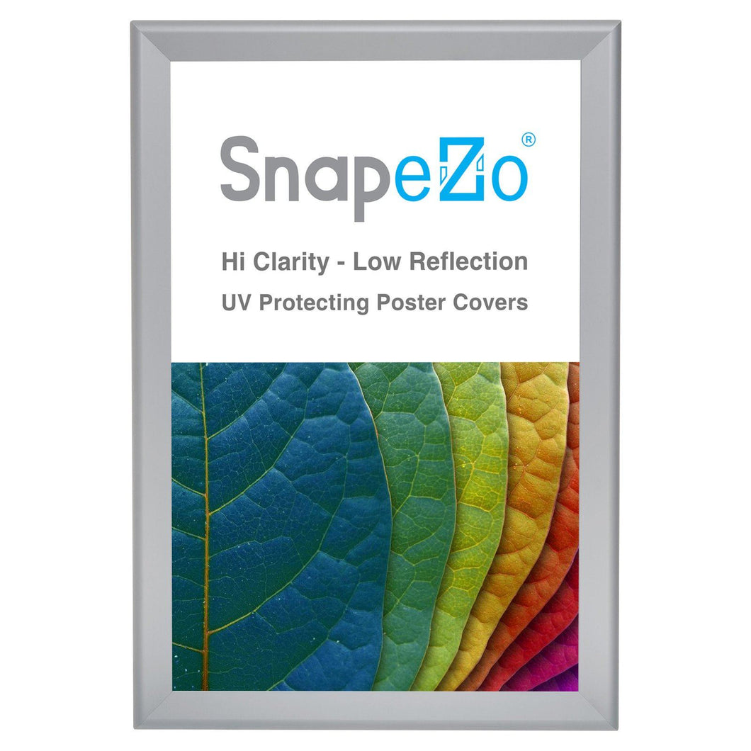 Silver diploma snap frame poster size 11X17 - 1.7 inch profile - Snap Frames Direct