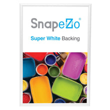 "Load image into Gallery viewer, 20x30 White SnapeZo® Return Snap Frame - 1"" Profile"