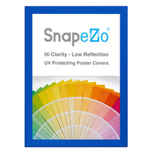 "Load image into Gallery viewer, 33x46 Blue SnapeZo® Snap Frame - 1.7"" Profile"