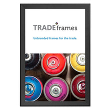 Load image into Gallery viewer, Black TRADEframe snap frame, media size 24X36 - 1.7 inch profile - Snap Frames Direct