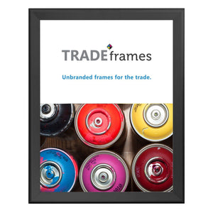 Black TRADEframe snap frame, media size 22X28 - 1.7 inch profile - Snap Frames Direct