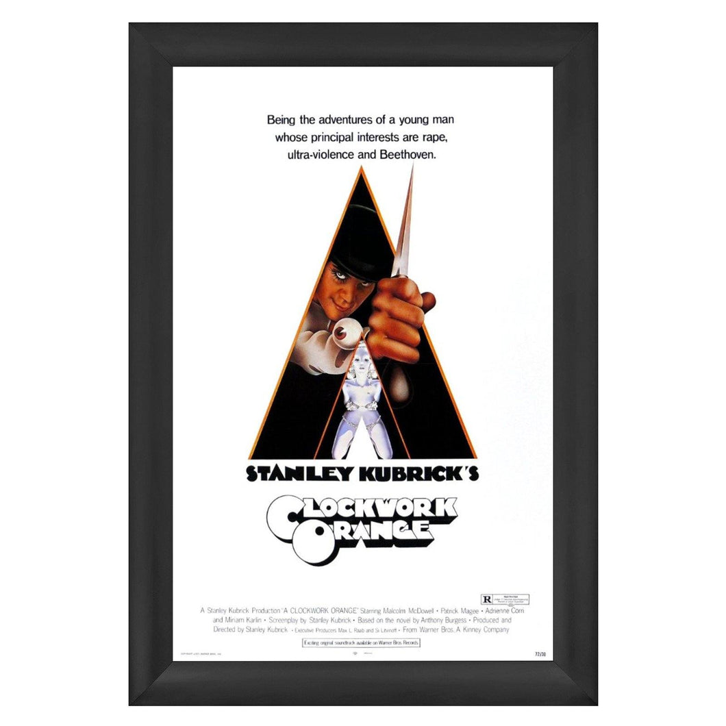 Black movie poster snap frame size 27x41 - 2.2 inch profile - Snap Frames Direct