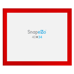 "34x40 Red SnapeZo® Snap Frame - 1.7"" Profile"