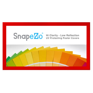 "21x62 Red SnapeZo® Snap Frame - 1.7"" Profile"