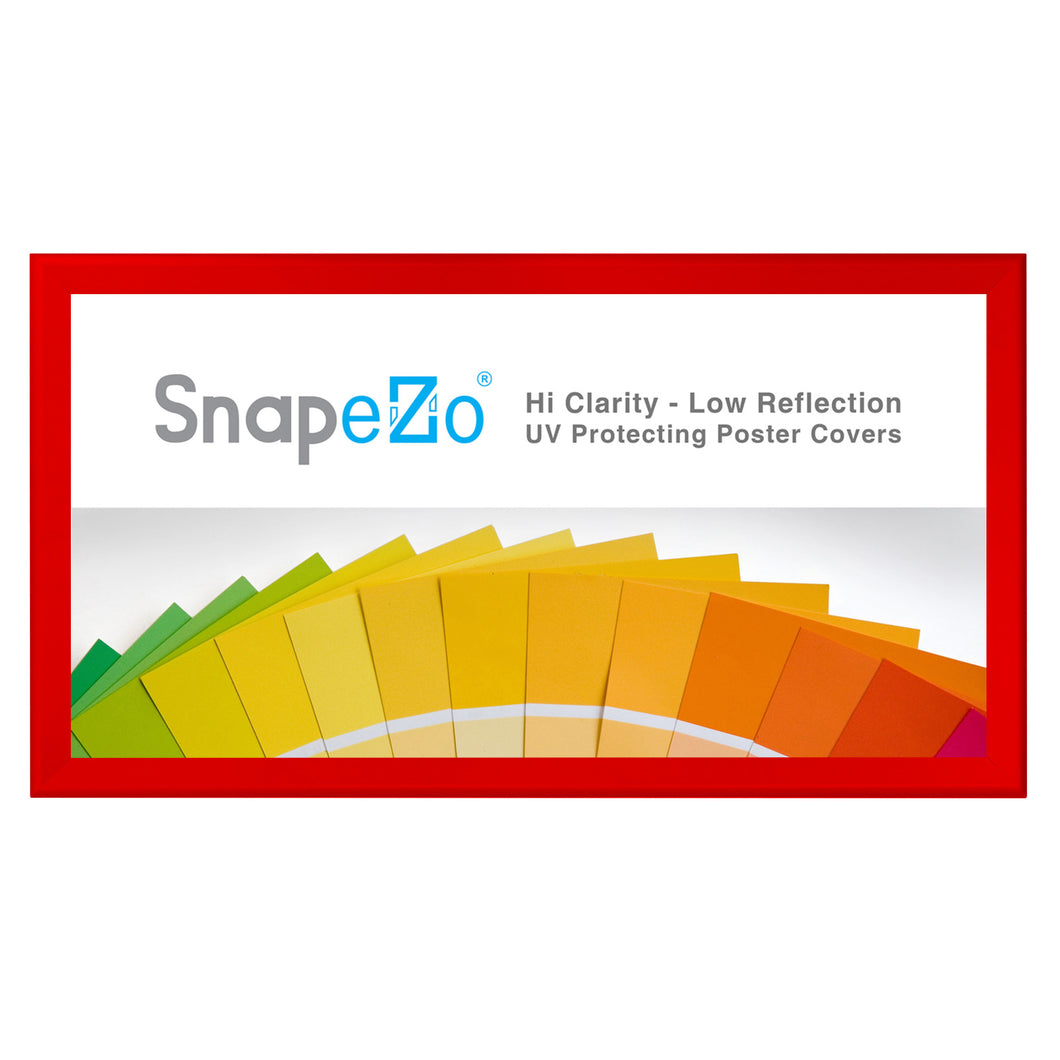 21x62 Red SnapeZo® Snap Frame - 1.7