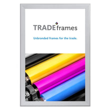 Load image into Gallery viewer, Silver snap frame poster size 24X36 - 1.4 inch profile - Snap Frames Direct