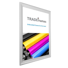 "Load image into Gallery viewer, 27x40 Silver TRADEframe Snap Frame - 1.7"" Profile"