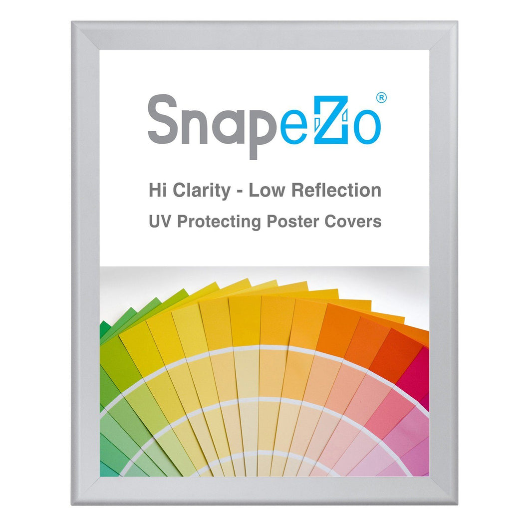 Silver snap frame poster size 18X24 - 1.7 inch profile - Snap Frames Direct