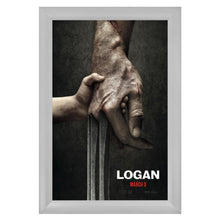 Load image into Gallery viewer, Silver snap frame poster size 24x36 - 2.2 inch profile