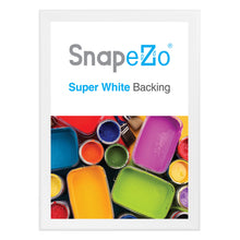 "Load image into Gallery viewer, 33x47 White SnapeZo® Snap Frame - 1.7"" Profile"