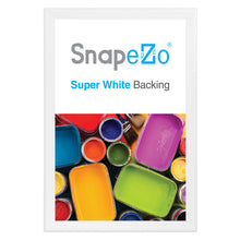 "Load image into Gallery viewer, 31x46 White SnapeZo® Snap Frame - 1.7"" Profile"