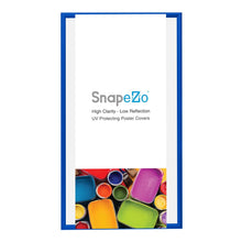 "Load image into Gallery viewer, 22x56 Blue SnapeZo® Snap Frame - 1.7"" Profile"