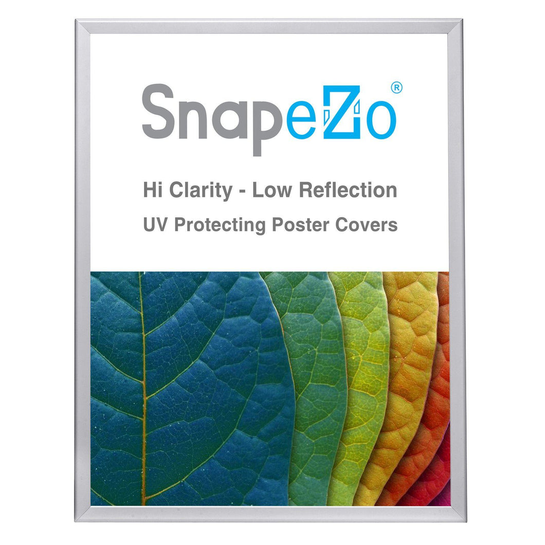 Silver double-sided snap frame poster size 24X30 - 1.25 inch profile - Snap Frames Direct