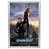Silver movie poster snap frame poster size 30X40 - 1.25 inch profile - Snap Frames Direct