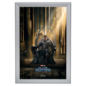 Silver movie poster snap frame poster size 27X40 - 1.7 inch profile - Snap Frames Direct