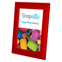 "Load image into Gallery viewer, 5x7 Red SnapeZo® Return Snap Frame - 1"" Profile"