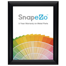 "Load image into Gallery viewer, 8x10 Brushed Black SnapeZo® Snap Frame - 1"" Profile"