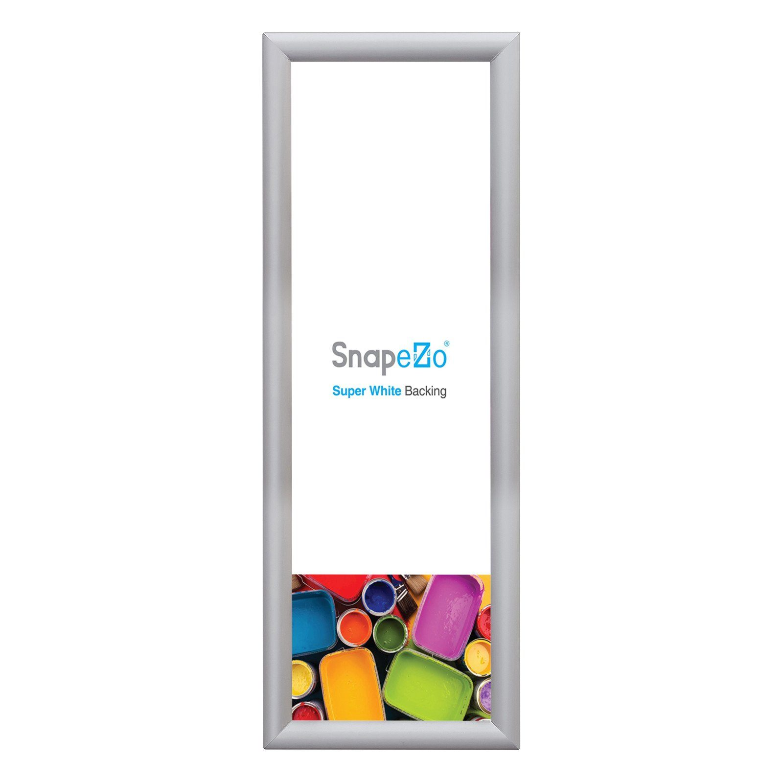 Silver snap frame photo size 8x24 - 1 inch profile