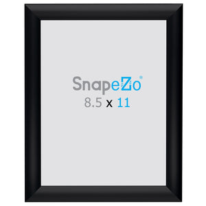 "8.5x11 Brushed Black SnapeZo® Snap Frame - 1"" Profile"