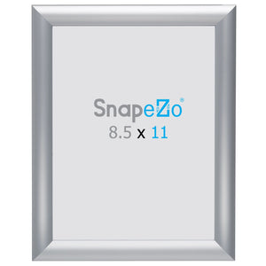 "8.5x11 Brushed Silver SnapeZo® Snap Frame - 1"" Profile"