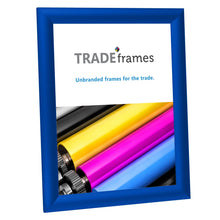 "Load image into Gallery viewer, 8.5x11 Inches Blue Snap Frame - 1"" Profile"