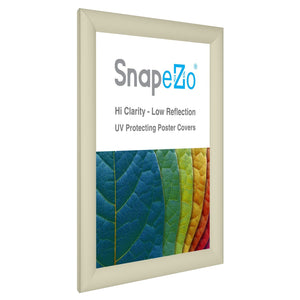 "8.5x11 Cream SnapeZo® Return Snap Frame - 1.2"" Profile"