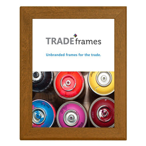 Dark Wood certificate snap frame poster size 8.5X11 - 1.25 inch profile - Snap Frames Direct