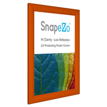 "Load image into Gallery viewer, 8.5x11 Orange SnapeZo® Return Snap Frame - 1.2"" Profile"