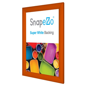"8.5x11 Orange SnapeZo® Return Snap Frame - 1.2"" Profile"