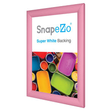 "Load image into Gallery viewer, 11x17 Pink SnapeZo® Return Snap Frame - 1.2"" Profile"