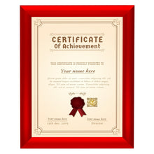 Load image into Gallery viewer, Red certificate snap frame poster size 8.5X11 - 1 inch profile - Snap Frames Direct