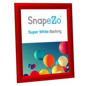 "8.5x11 Red SnapeZo® Snap Frame - 1"" Profile"