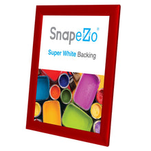 "Load image into Gallery viewer, 8.5x11 Red SnapeZo® Snap Frame - 1"" Profile"