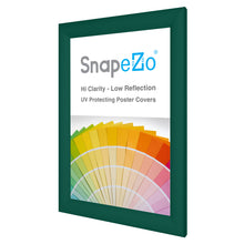 "Load image into Gallery viewer, 11x17 Green SnapeZo® Snap Frame - 1.2"" Profile"