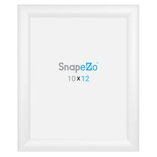 "Load image into Gallery viewer, 10x12 White SnapeZo® Snap Frame - 1.2"" Profile"
