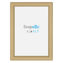 "Load image into Gallery viewer, A4 Gold SnapeZo® Snap Frame - 1"" Profile"