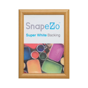 Light Wood certificate snap frame poster size 8x10 - 1 inch profile - Snap Frames Direct