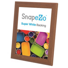 "Load image into Gallery viewer, 8x10 Dark Wood SnapeZo® Return Snap Frame - 1"" Profile"