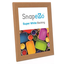 "Load image into Gallery viewer, 8.5x11 Light Wood SnapeZo® Return Snap Frame - 1"" Profile"