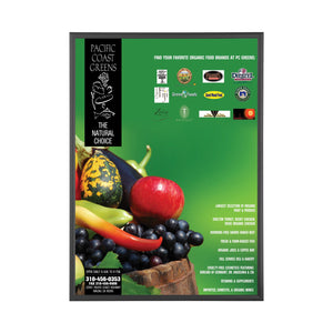 Black snap frame poster size 36x72 - 1.7 inch profile - Snap Frames Direct