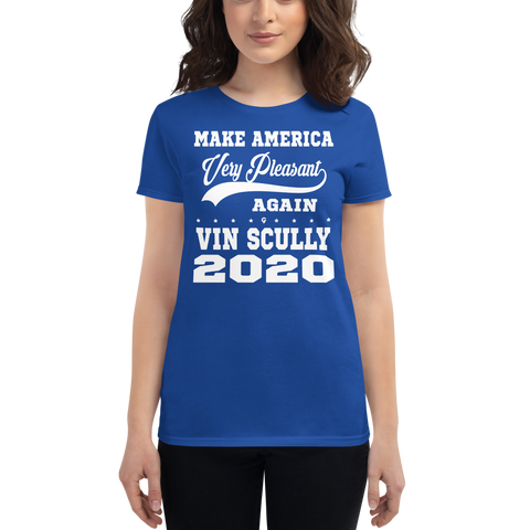 Vin Scully 2020 - Make America Very Pleasant Again - Women's short sleeve t-shirt
