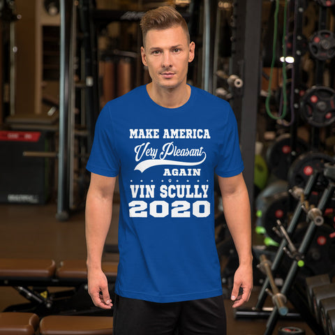 Vin Scully 2020 - Make America Very Pleasant Again - Short-Sleeve Unisex T-Shirt