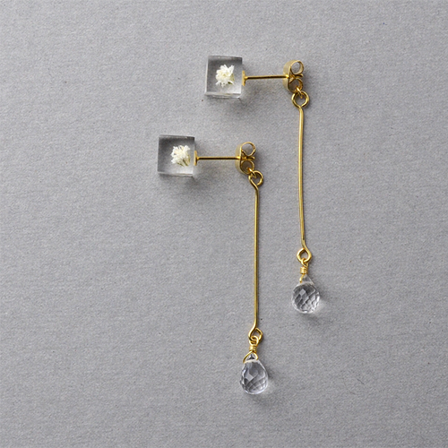 The Great Nature Earrings - Kasumi (drop | flower studs)