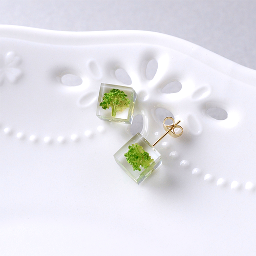 The Great Nature Earrings - Broccoli (studs)
